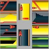 Tarjetas de visita abstractas ilustración del vector