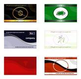 Tarjetas de visita, banderas, fondos, e insignias Fotografía de archivo libre de regalías