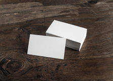 Tarjetas de visita blancas Fotografía de archivo libre de regalías
