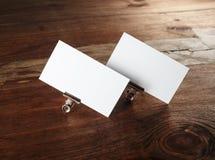 Tarjetas de visita blancas Imágenes de archivo libres de regalías