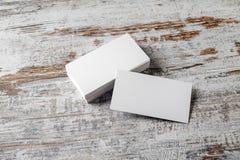Tarjetas de visita blancas Fotos de archivo libres de regalías