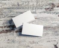 Tarjetas de visita blancas Imagenes de archivo