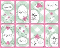 Tarjetas de visita color de rosa lindas Fotografía de archivo