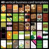 40 tarjetas de visita coloridas Foto de archivo