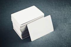 Tarjetas de visita con las esquinas redondeadas Imágenes de archivo libres de regalías