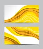 Tarjetas de visita creativas abstractas del vector Fotografía de archivo