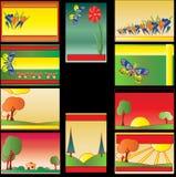 Tarjetas de visita de Colourfull libre illustration