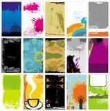 Tarjetas de visita de Grunge Imagen de archivo libre de regalías