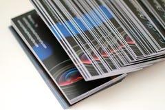 Tarjetas de visita de la fotografía Imagen de archivo