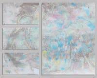 Tarjetas de visita de mármol Foto de archivo libre de regalías