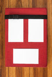 Tarjetas de visita del cuaderno y de la cara Fotos de archivo libres de regalías