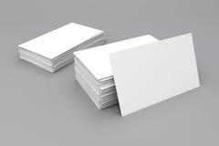 tarjetas de visita del espacio en blanco 3d Stock de ilustración