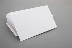 Tarjetas de visita en blanco Fotografía de archivo libre de regalías