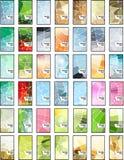Tarjetas de visita geométricas abstractas del mosaico fijadas Fotografía de archivo