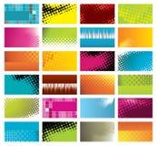 Tarjetas de visita modernas, coloridas Foto de archivo