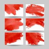 Tarjetas de visita rojas fijadas Foto de archivo libre de regalías