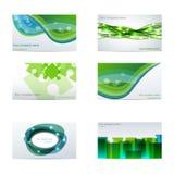 Tarjetas de visita verdes stock de ilustración