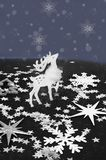 Tarjetas del Año Nuevo en colores blancos y negros ilustración del vector