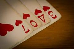 Tarjetas del amor Fotografía de archivo