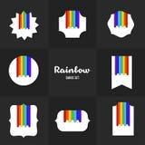 Tarjetas del arco iris de la colección ilustración del vector