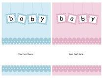 Tarjetas del bebé Foto de archivo libre de regalías