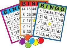 Tarjetas del bingo Fotos de archivo libres de regalías