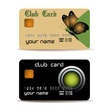 Tarjetas del club Imagen de archivo libre de regalías