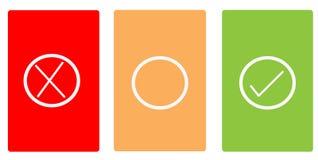 Tarjetas del color con símbolos Foto de archivo libre de regalías