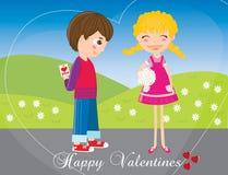 Tarjetas del día de San Valentín Foto de archivo libre de regalías