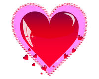 Tarjetas del día de San Valentín Fotografía de archivo libre de regalías