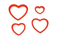 Tarjetas del día de San Valentín Imágenes de archivo libres de regalías