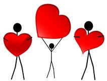 Tarjetas del día de San Valentín stock de ilustración