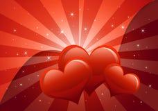 Tarjetas del día de San Valentín abstractas Foto de archivo