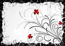 Tarjetas del día de San Valentín abstractas fondo, vector Imagen de archivo libre de regalías