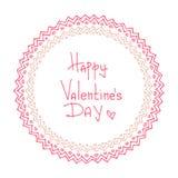 Tarjetas del día de San Valentín borders-14 Imágenes de archivo libres de regalías