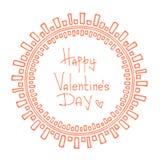 Tarjetas del día de San Valentín borders-08 Fotografía de archivo