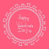 Tarjetas del día de San Valentín borders-16 Imagen de archivo libre de regalías