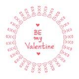 Tarjetas del día de San Valentín borders-17 Fotografía de archivo libre de regalías