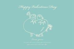 Tarjetas del día de San Valentín, casandose la tarjeta de felicitación libre illustration