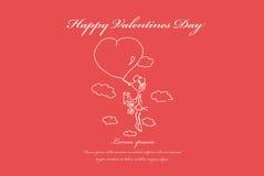 Tarjetas del día de San Valentín, casandose la tarjeta de felicitación Fotografía de archivo libre de regalías