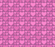 Tarjetas del día de San Valentín con los corazones Fotos de archivo