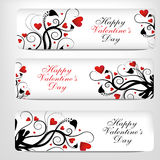 Tarjetas del día de San Valentín Day.banner Imagen de archivo