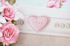 Tarjetas del día de San Valentín del amor Fotografía de archivo libre de regalías
