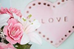 Tarjetas del día de San Valentín del amor Foto de archivo libre de regalías
