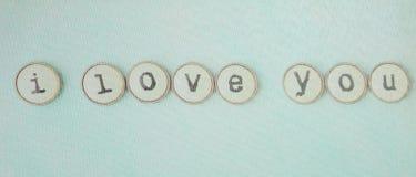 Tarjetas del día de San Valentín del amor Fotografía de archivo