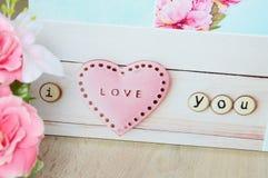 Tarjetas del día de San Valentín del amor Imagen de archivo libre de regalías