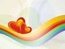 Tarjetas del día de San Valentín del fondo del corazón Fotos de archivo libres de regalías