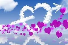 Tarjetas del día de San Valentín especiales Imagen de archivo libre de regalías