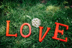 Tarjetas del día de San Valentín felices del AMOR Imágenes de archivo libres de regalías
