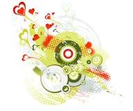 Tarjetas del día de San Valentín fondo, vector Imágenes de archivo libres de regalías